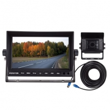 Camera set zwart  : CCD kleuren camera AHD + 7 inch AHD monitor